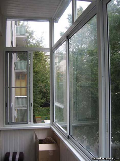 Остекление балконов в казани.