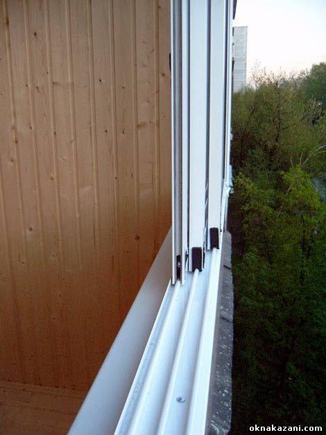 Монтаж раздвижных окон на балконе..