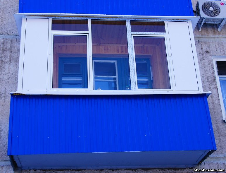 застекление балкона окнами ПВХ