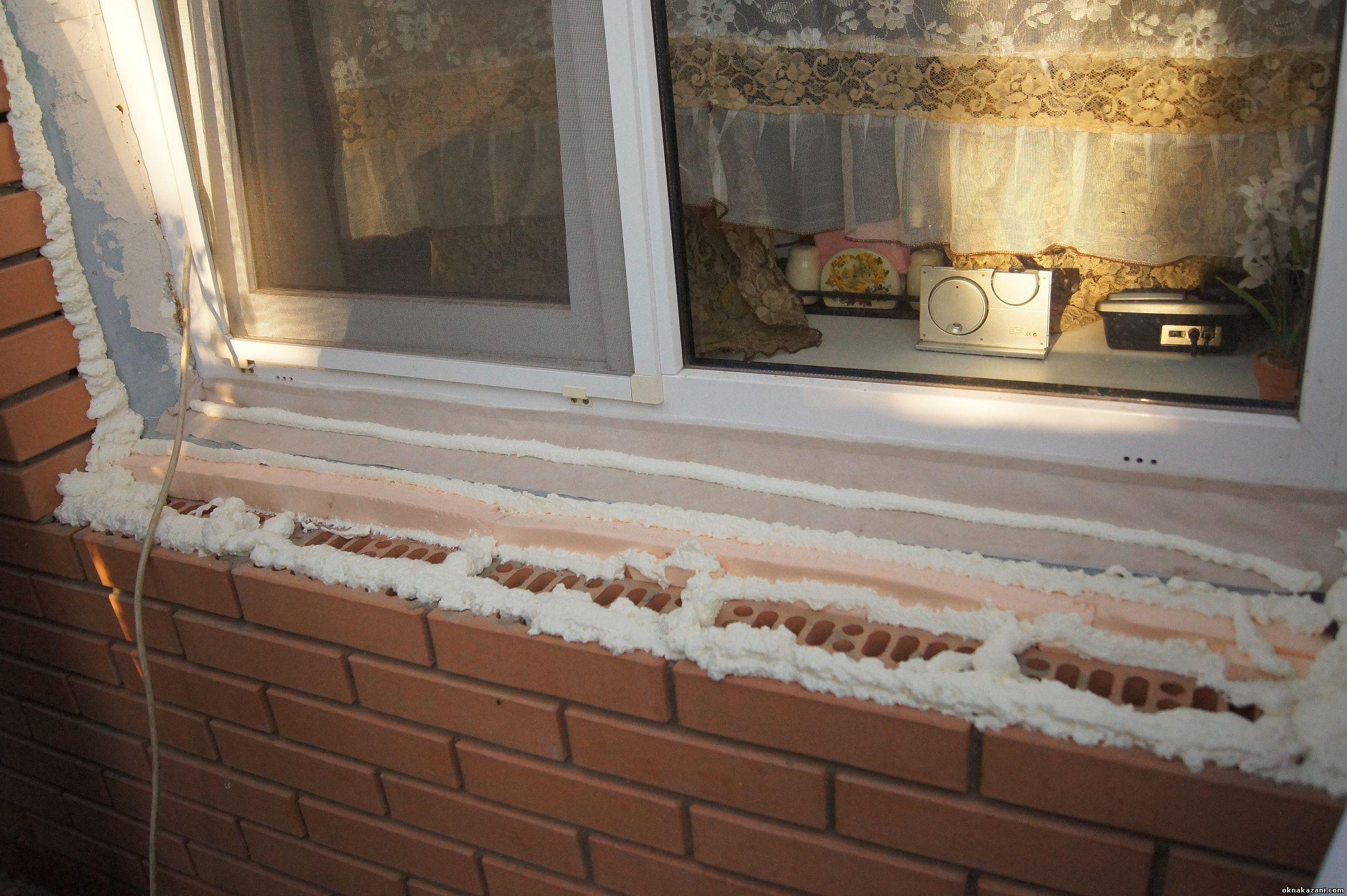 Как утеплить подоконник пластикового окна своими руками 53
